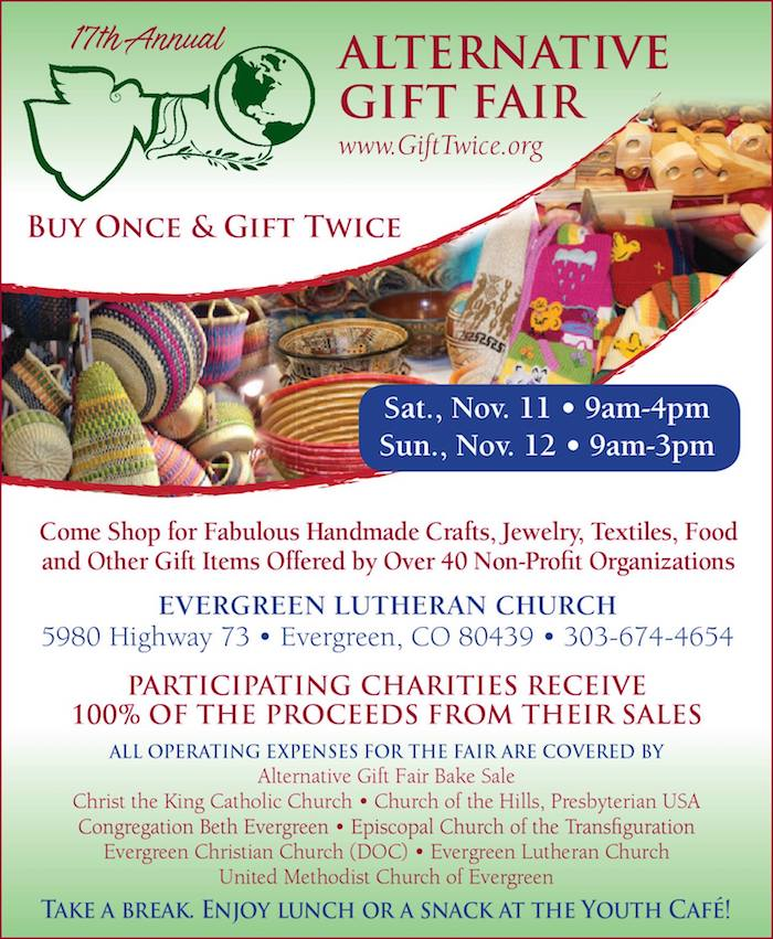 17th Annual Alternative Gift Fair Evergreen Lutheran Church