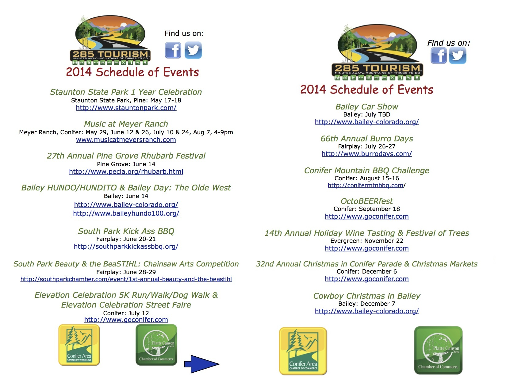 2014 Schedule of Events
