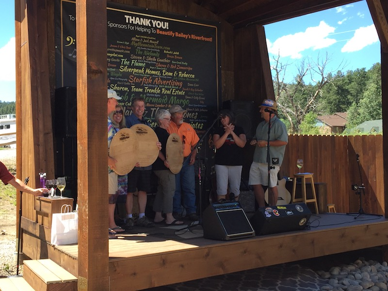 Aspen Peak Cellars outdoor stage