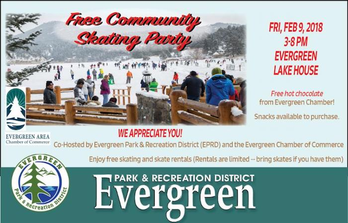 Free Community Skating Party Evergreen Park Recreation Chamber of Commerce 2018