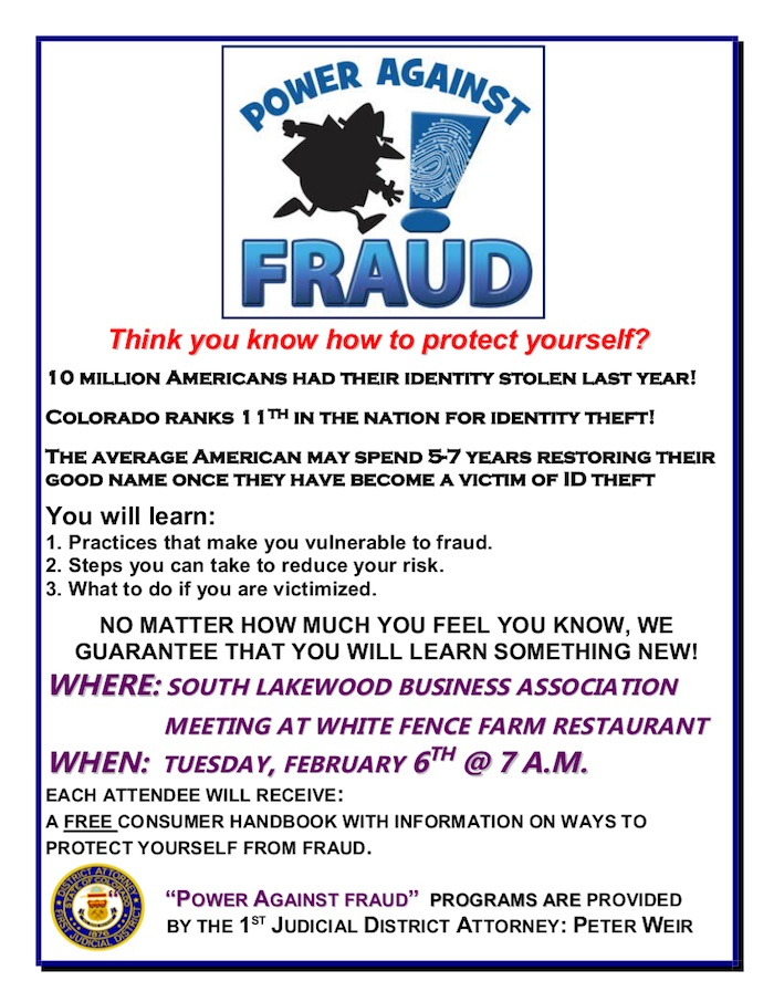 Power Against Fraud Jeffco DA