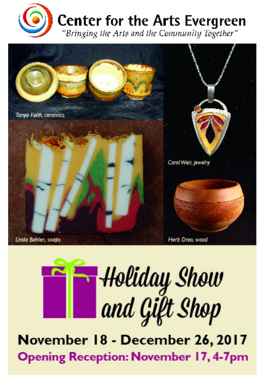 Center for the Arts Evergreen Holiday Show and Gift Shop 2017