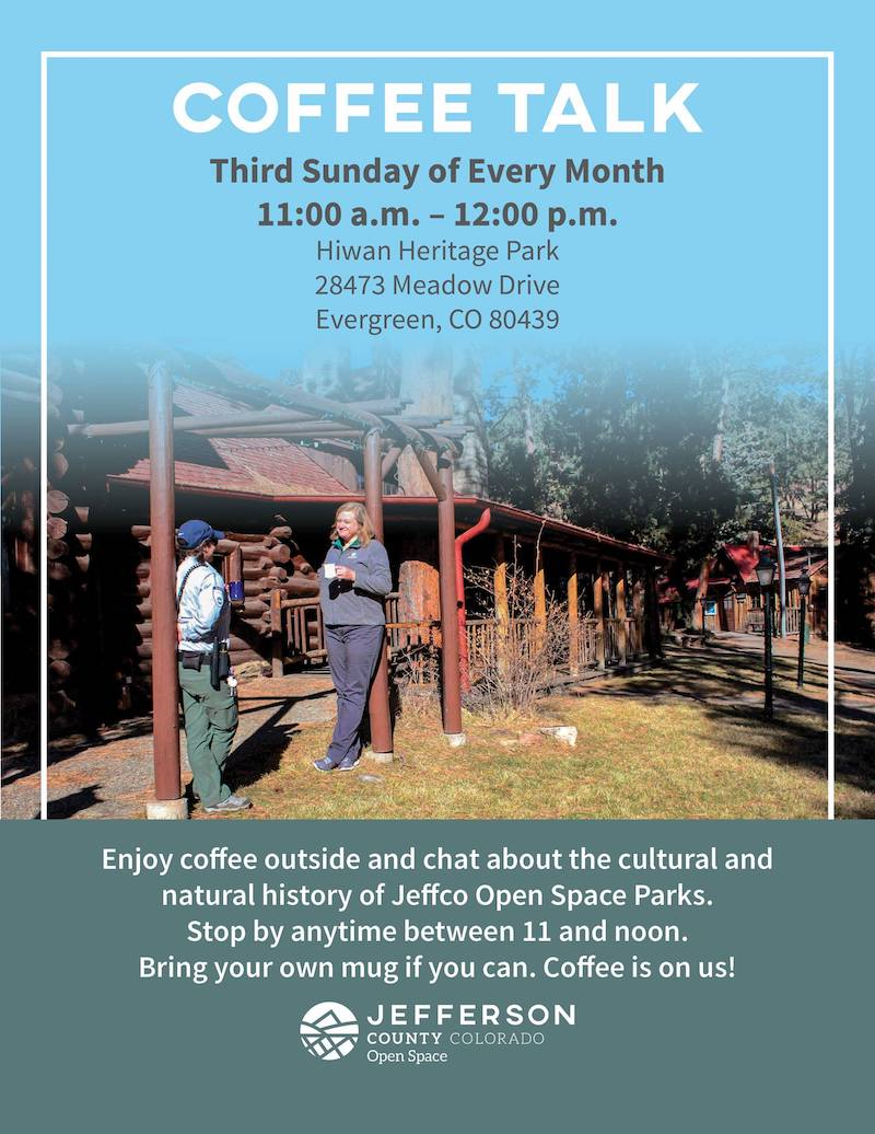 Jeffco Open Space Coffee Talk Hiwan Museum Evergreen
