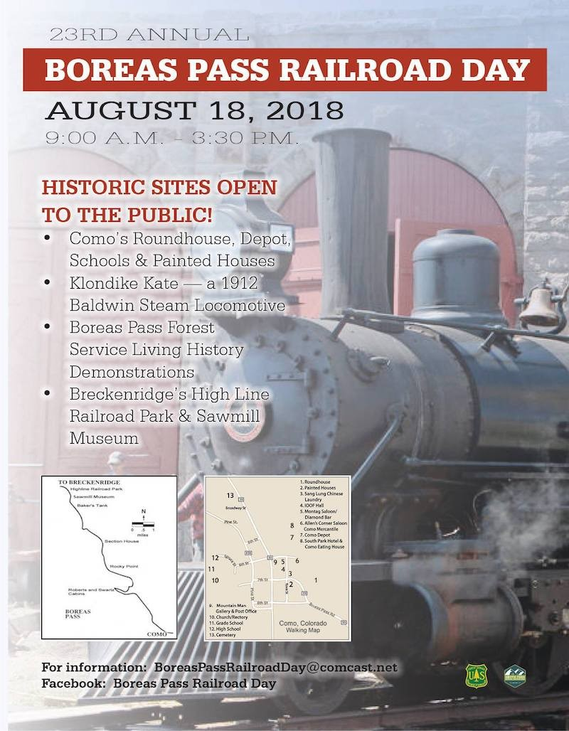 Boreas Pass Railroad Day and the Como Depot Restoration