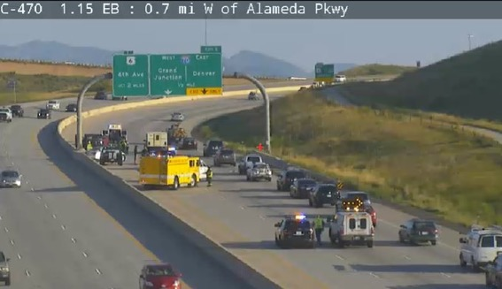 Accident NB C-470 before I-70 - My Mountain Town: Conifer