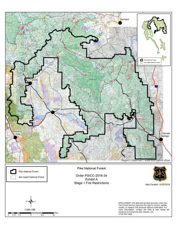 Fire Restrictions Begin For The Pike National Forest October 25 ...
