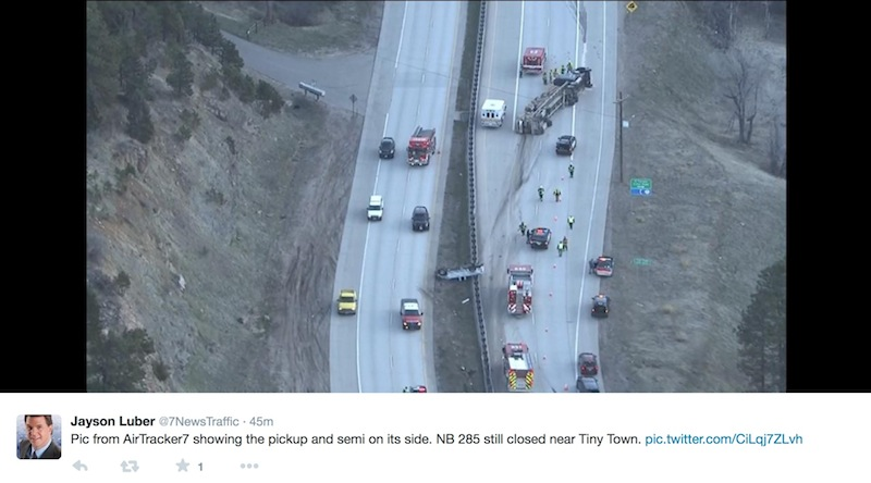 NB Hwy 285 Closed in Turkey Creek Canyon, Accident - My Mountain